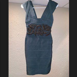Herve Leger bodice embellished dress size small
